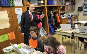 Governor Wolf Tours Wingate Elementary